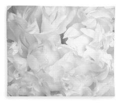 Peony Petals Fleece Blanket