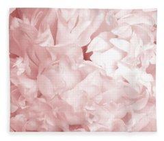 Peony Pink Beauty Fleece Blanket