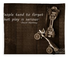 People Tend To Forget That Play Is Serious Fleece Blanket
