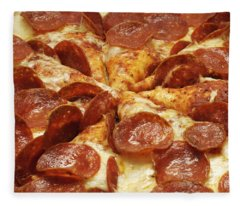 Pepperoni Pizza 1 Fleece Blanket