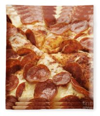Pepperoni Pizza 25 Pyramid Fleece Blanket