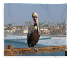 Perched On The Pier Fleece Blanket