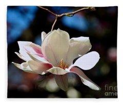 Perfect Bloom Magnolia Fleece Blanket