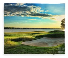 Perfect Golf Sunset Fleece Blanket