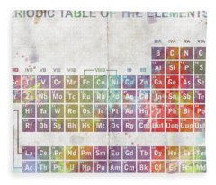 Periodic Table Of The Elements Fleece Blanket