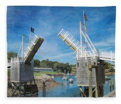 Perkins Cove Drawbridge Textured Fleece Blanket