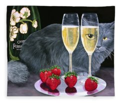 Perrier Jouet Et Le Chat Fleece Blanket