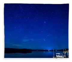 Perseid Meteor Fleece Blanket