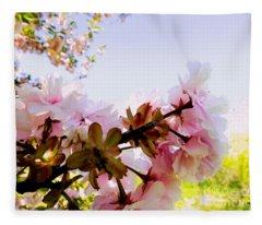 Petals In The Wind Fleece Blanket