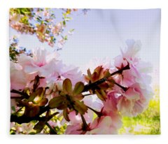 Petals In The Wind Fleece Blanket