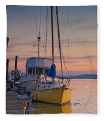 Petaluma River II Fleece Blanket