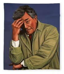Peter Falk As Columbo Fleece Blanket