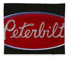 Peterbilt Semi Truck Emblem Fleece Blanket