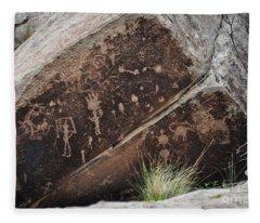 Petroglyphs Fleece Blanket
