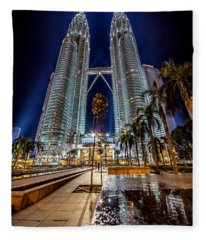 Petronas Twin Towers Fleece Blanket