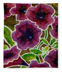 Petunia Fleece Blanket