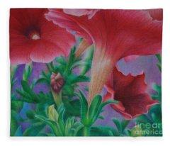 Petunia Skies Fleece Blanket