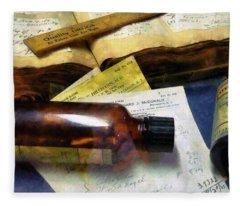 Pharmacist - Prescriptions And Medicine Bottles Fleece Blanket