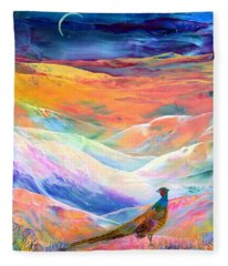 Pheasant Moon Fleece Blanket