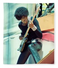 Phil Lynott Of Thin Lizzy - Black Rose Tour Day On The Green 7-4-79  Fleece Blanket