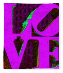 Philadelphia Love - Painterly V2 Fleece Blanket