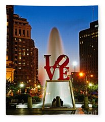 Philadelphia Love Park Fleece Blanket