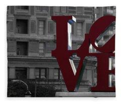 Philadelphia Love Fleece Blanket