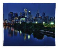 Philly Skyline Fleece Blanket