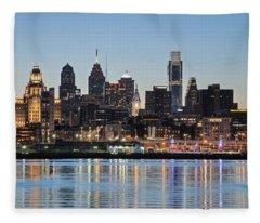 Philly Sunset Fleece Blanket