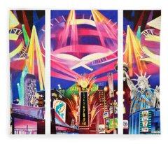 Phish New York For New Years Triptych Fleece Blanket