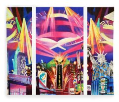 Phish New York For New Years Triptych Fleece Blanket