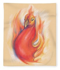 Phoenix In The Flames Fleece Blanket