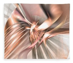 Phoenix Of The Future - Abstract Art Fleece Blanket