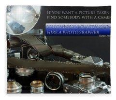 Photographer Quote Fleece Blanket