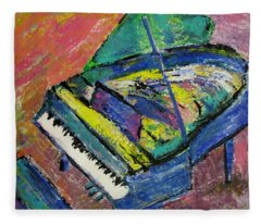 Piano Blue Fleece Blanket