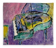 Piano Green Fleece Blanket
