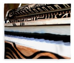Piano In The Dark - Music By Diana Sainz Fleece Blanket