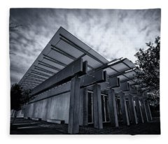 Piano Pavilion Bw Fleece Blanket
