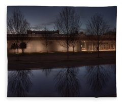 Piano Pavilion Night Reflections Fleece Blanket