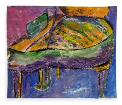 Piano Purple Fleece Blanket