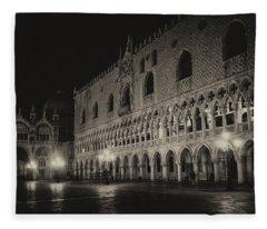 Piazza San Marco Venice Fleece Blanket