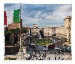 Piazza Venezia Fleece Blanket