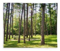 Picnic In The Pines Fleece Blanket