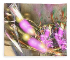 Picnic - Abstract Art Fleece Blanket
