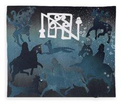 Pictish Hunting Scene I, 1995 Monotype Fleece Blanket