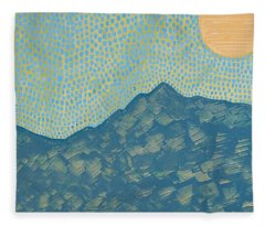 Picuris Mountains Original Painting Fleece Blanket