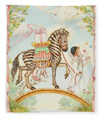 Pierrot Fleece Blanket