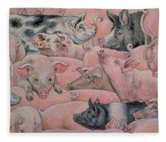 Pig Spread Fleece Blanket