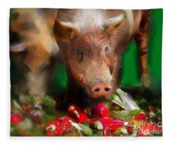 Pigs Fleece Blanket