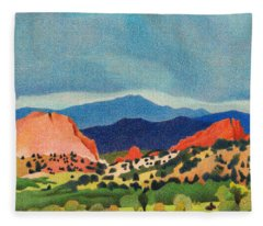 Garden Of The Gods Pikes Peak Fleece Blanket